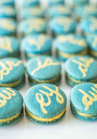 wedding favours | monogrammed macarons