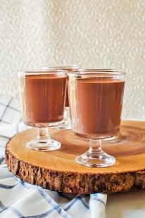 chocolate silk panna cotta