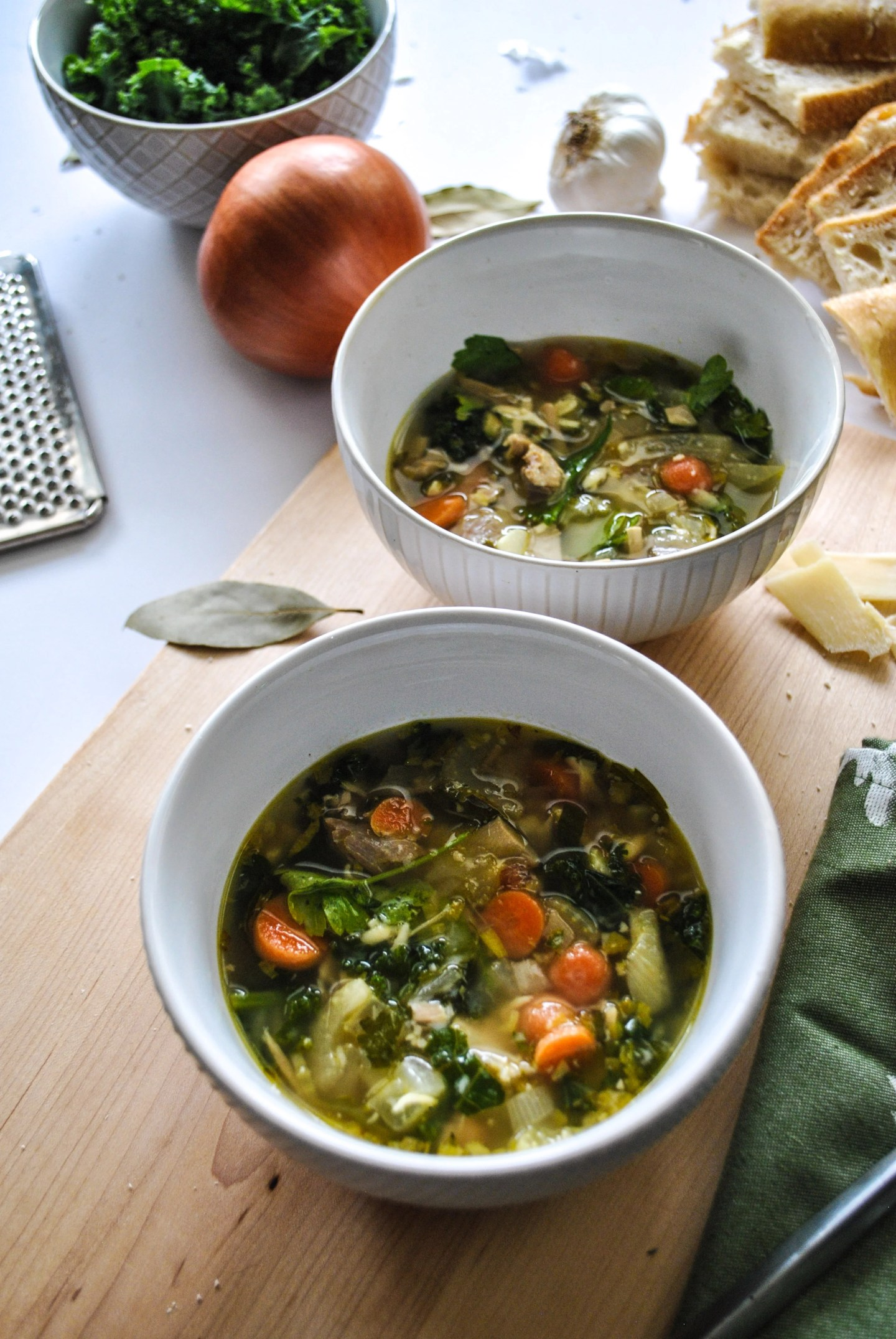 Lifestyle Blogger Jenny Meassick of Chocolate & Lace shares her recipe for Turkey Kale Soup