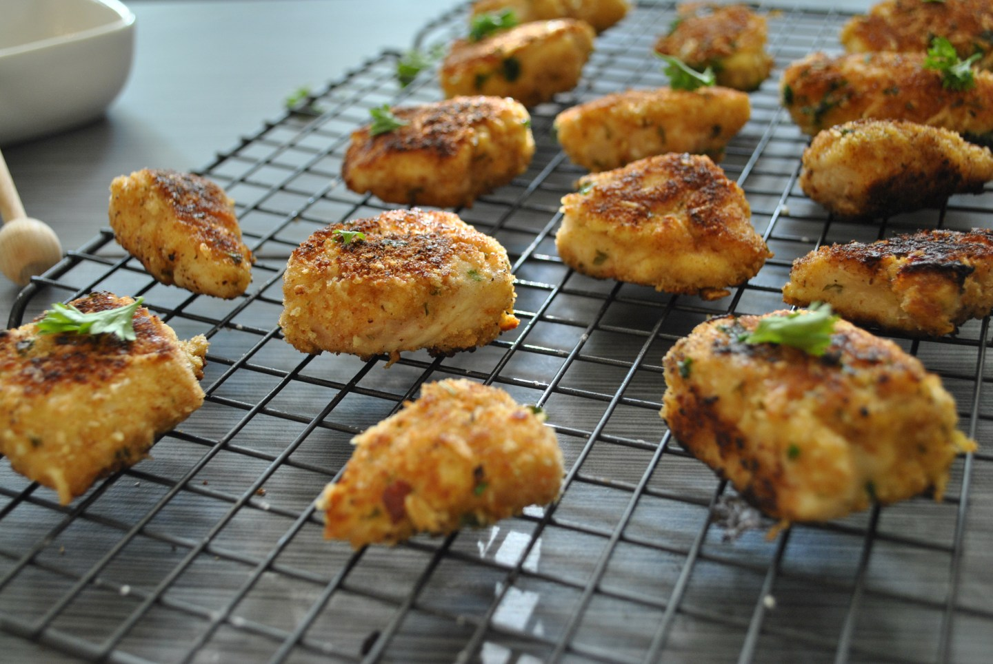 Lifestyle Blogger Chocolate and Lace shares her recipe for Healthy Chicken Nuggets