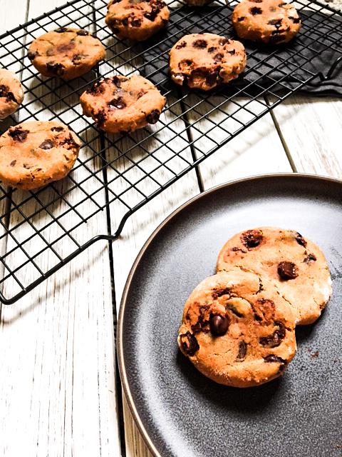The Chewiest Pumpkin Chocolate Chip Cookies