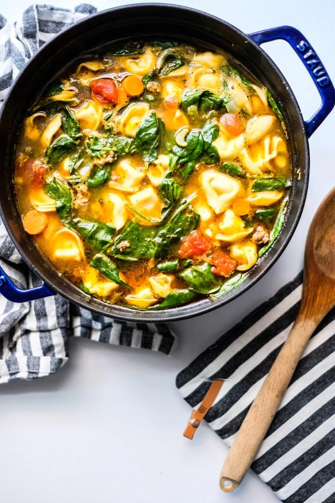 Tortellini and Arugula Soup