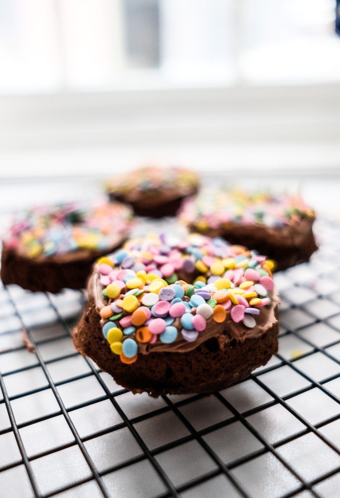 Lifestyle Blog Chocolate and Lace shares her recipe for Baked Chocolate Donuts.
