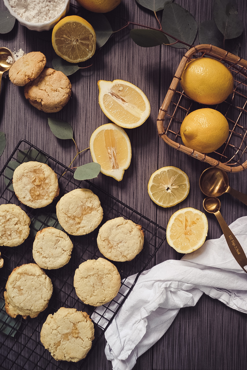 Lifestyle Blogger Chocolate and Lace shares her recipe for Chewy Lemon Sugar Cookies.