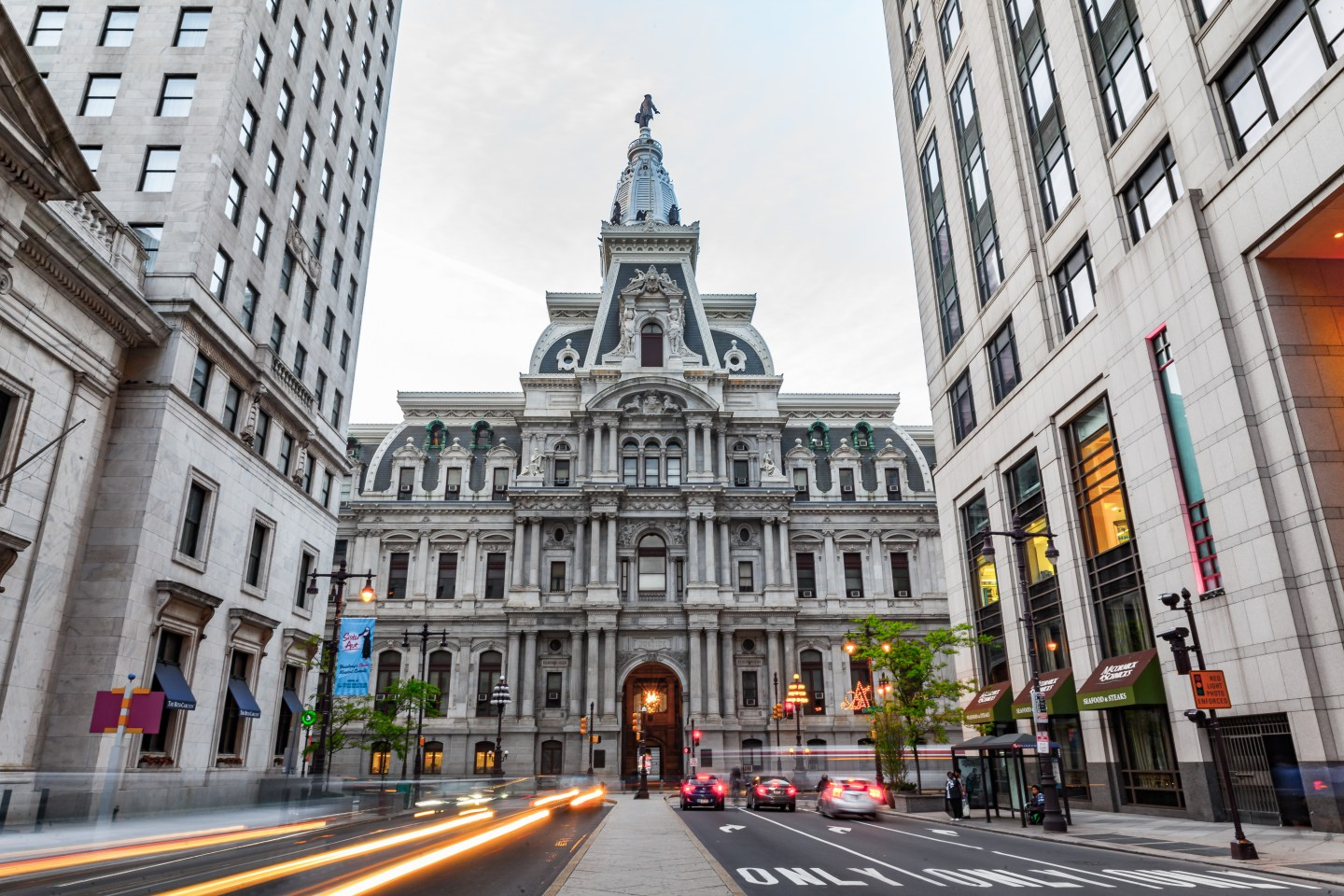 Lifestyle Blogger Chocolate and Lace shares visiting Philadelphia's City Hall and Dilworth Park.