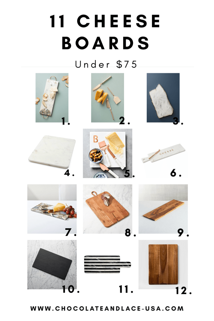 Lifestyle Blogger Chocolate and Lace shares her top picks for Cheese Boards under $75.
