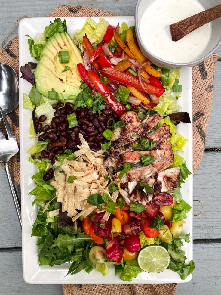 Chocolate and Lace shares her recipe for crunchy Fajita Salad.