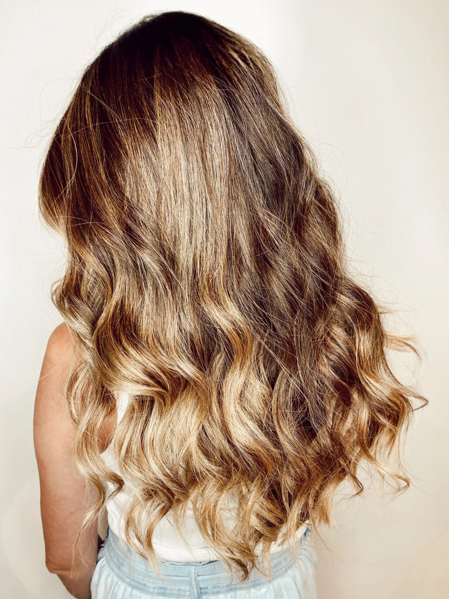 The best products for brunette balayage hair color and long hair.