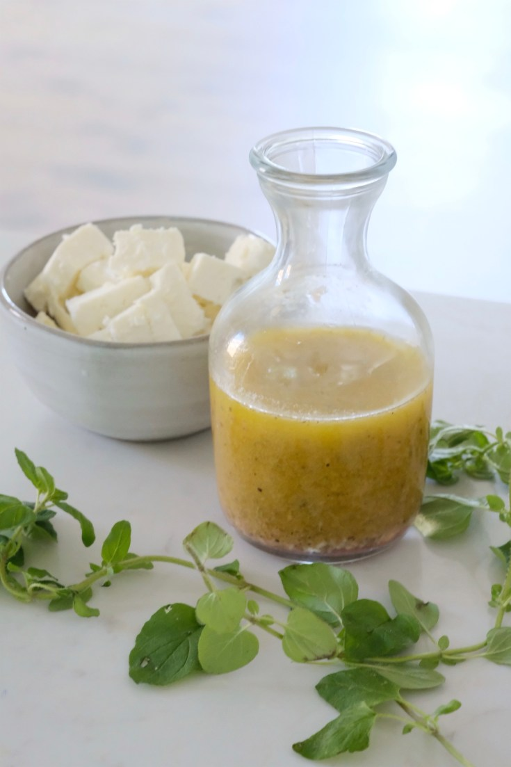 Lifestyle Blogger Chocolate and Lace shares her recipe for Lemon and Oregano Greek Dressing.