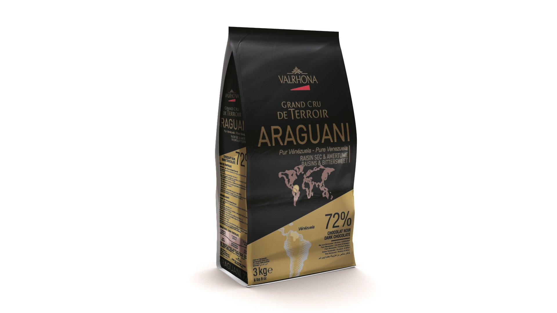 Valrhona Dark Chocolate Araguani 72% Feves