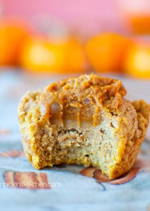 Pumpkin pie stuffed pumpkin muffins!