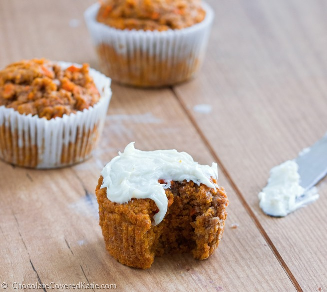 Healthy Carrot Cake Cupcakes   Low Calorie  Low Fat  Low fat  high fiber  soft   fluffy carrot cake cupcakes with a