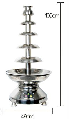 6tiers Stainless Steel Chocolate Fountain Size