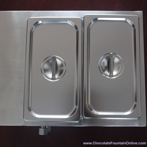 2 tanks Stainless Steel Chocolate Melting Machine