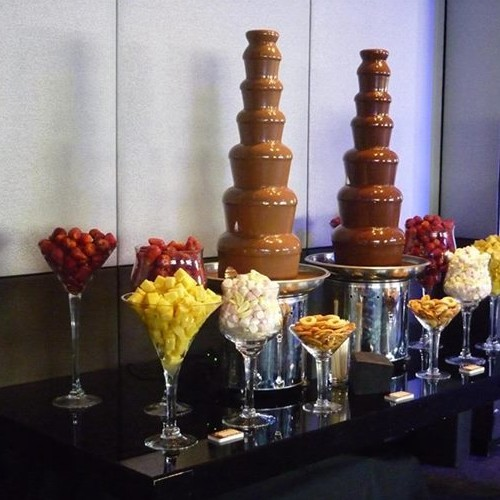 CF48A 7 Tiers Large Commercial Chocolate Fountain Machine for dipping