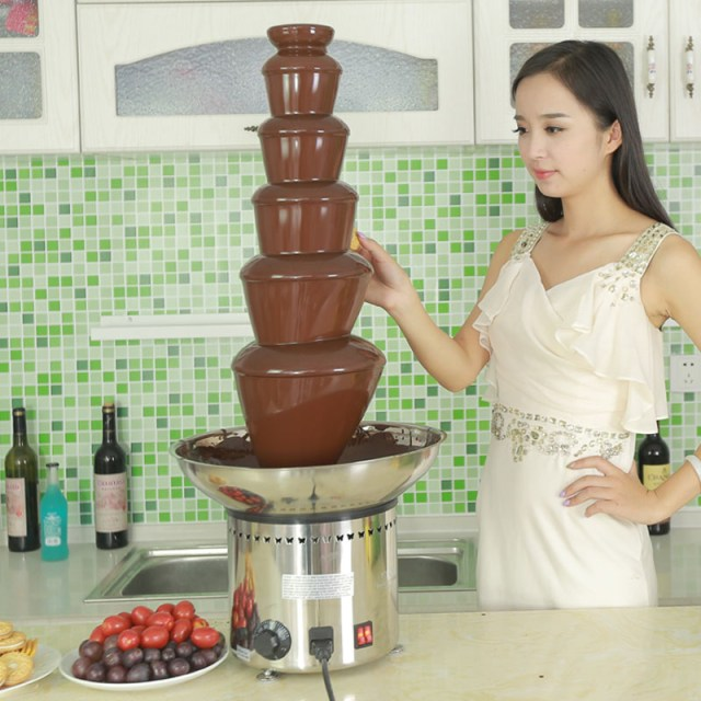 CF33A 6 tiers commercial chocolate fountain
