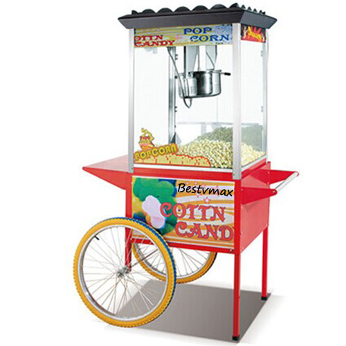16 Oz Popcorn Popper Machine with Cart