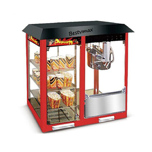 Popcorn making machine with warming show case