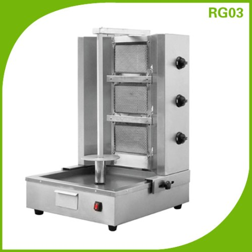 3 burner Adjustable distance Commercial Gas Shawarma Machine RG03