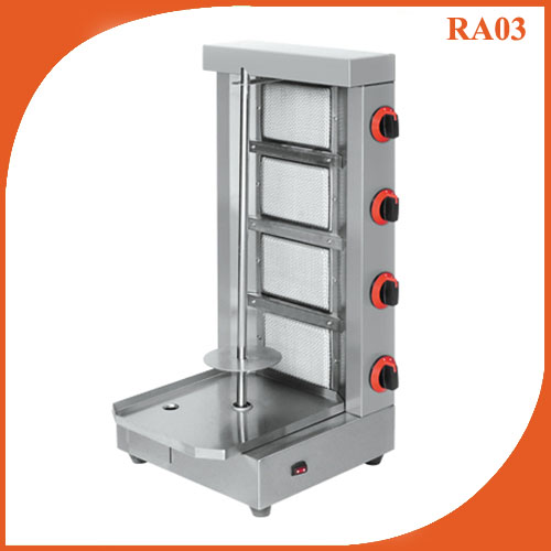 Four burner Gas vertical broiler doner kebab Shawarma machine RA03