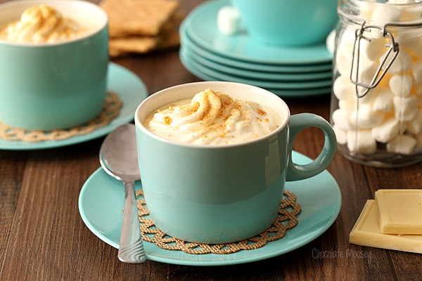 Cheesecake Hot Chocolate with white chocolate and cream cheese