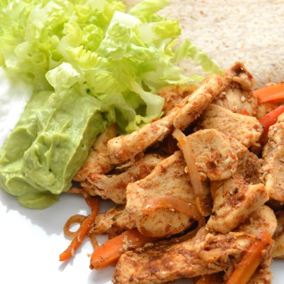 Chicken and Carrot Fajitas