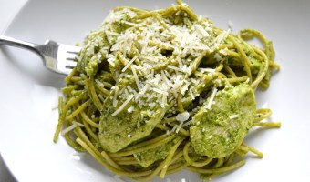 Lemon Spinach Pesto Chicken (Dairy Free Sauce)