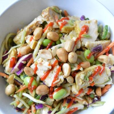 Peanut Broccoli Chicken Salad