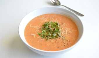 Roasted Tomato Basil Chicken Soup
