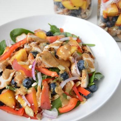 Peach Blueberry Chicken Salad