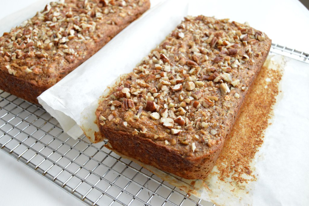 Healthy Zucchini Banana Nut Bread