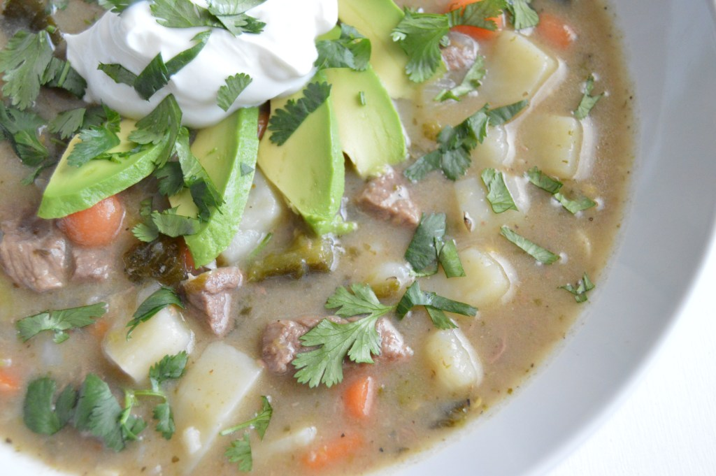 Roasted Green Chili Beef Stew