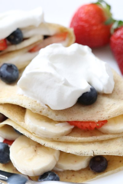 Whole Wheat Flax Crepes