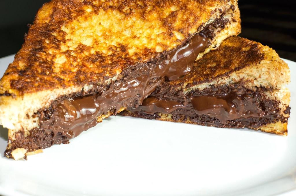 Nutella, dark chocolate, chocolate, french toast, breakfast, brunch, dessert, recipe,