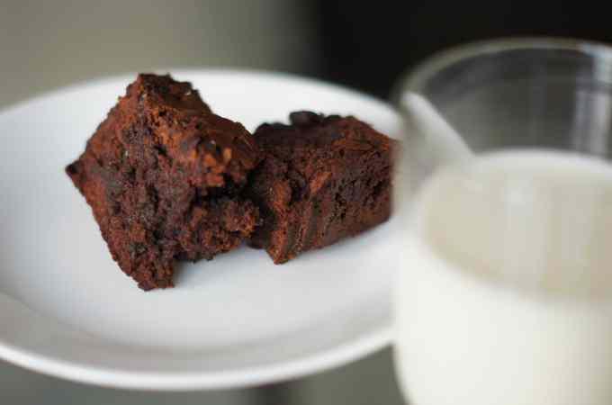 Chocolate Chip Brownies Milk
