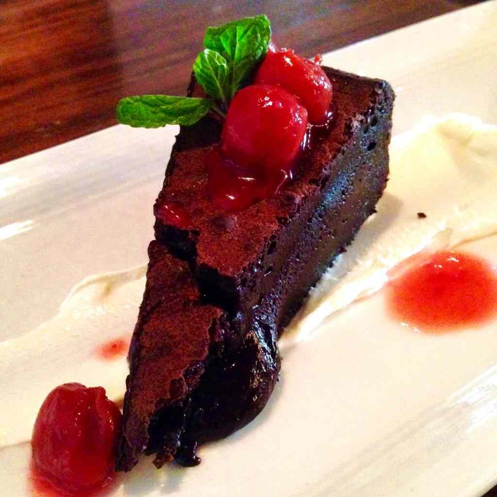 Dark Chocolate Torte Cake O&B oliver bonacini cafe grill toronto