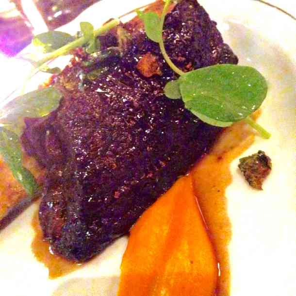 Braised beef rib, beefrib, la societe, toronto, winterlicious, food, cow,