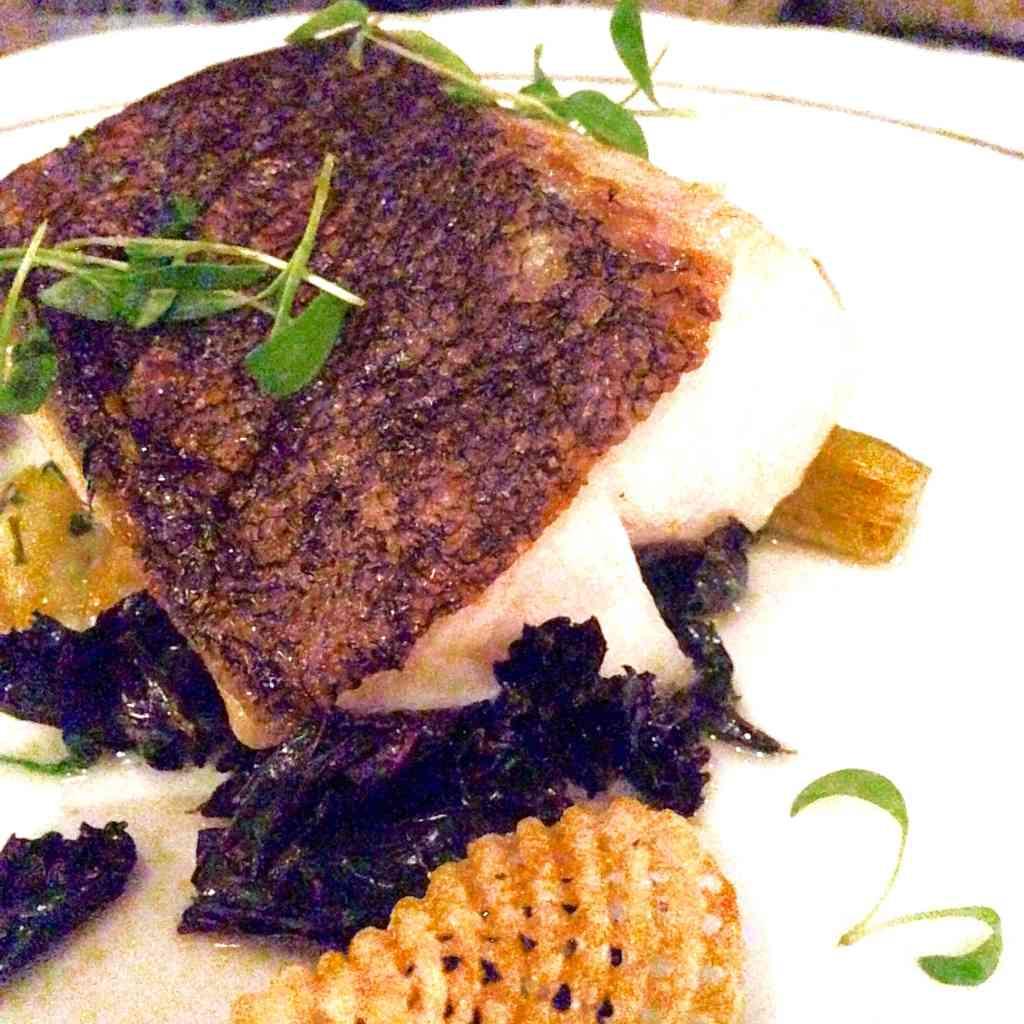 pan seared blackened cod, la societe, toronto, winterlicious, fish