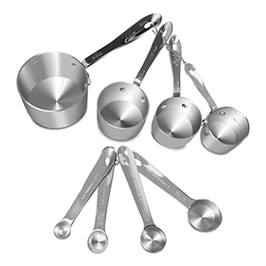 Stainless steel measuring cups and spoons by All-Clad