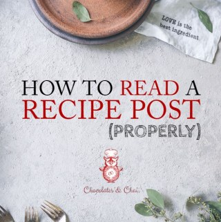 How to Read a Recipe Post (Properly)