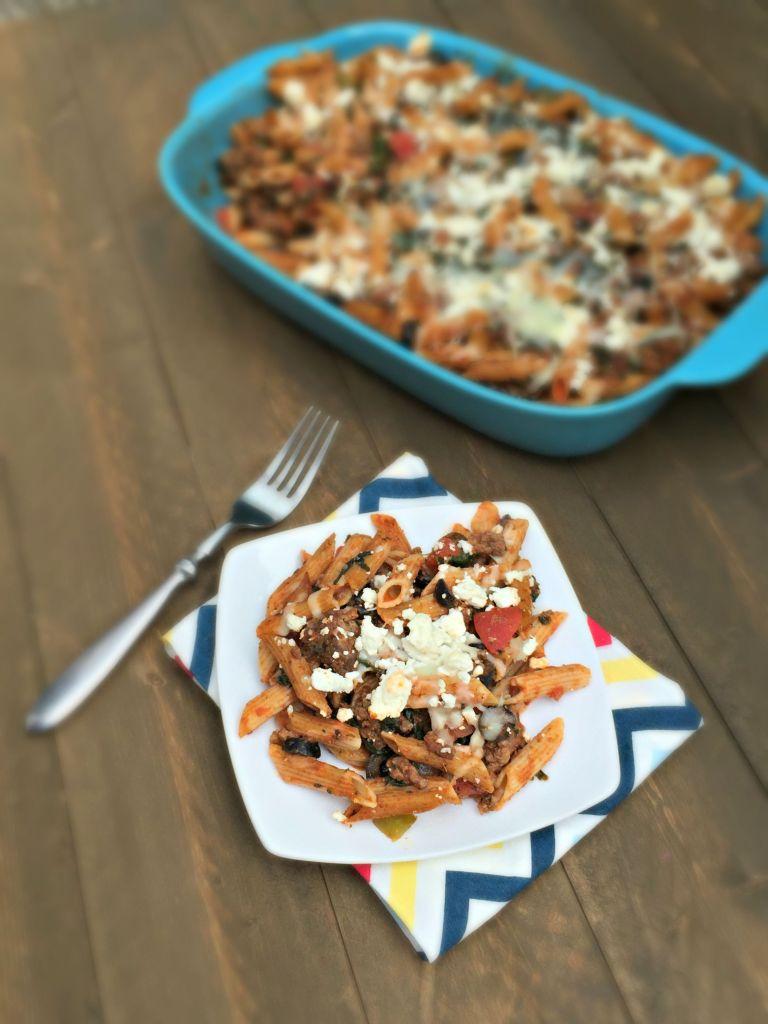 Greek Pasta and Beef Casserole