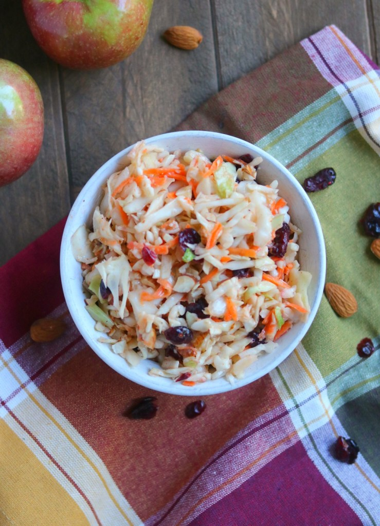 Apple Cranberry & Almond Coleslaw