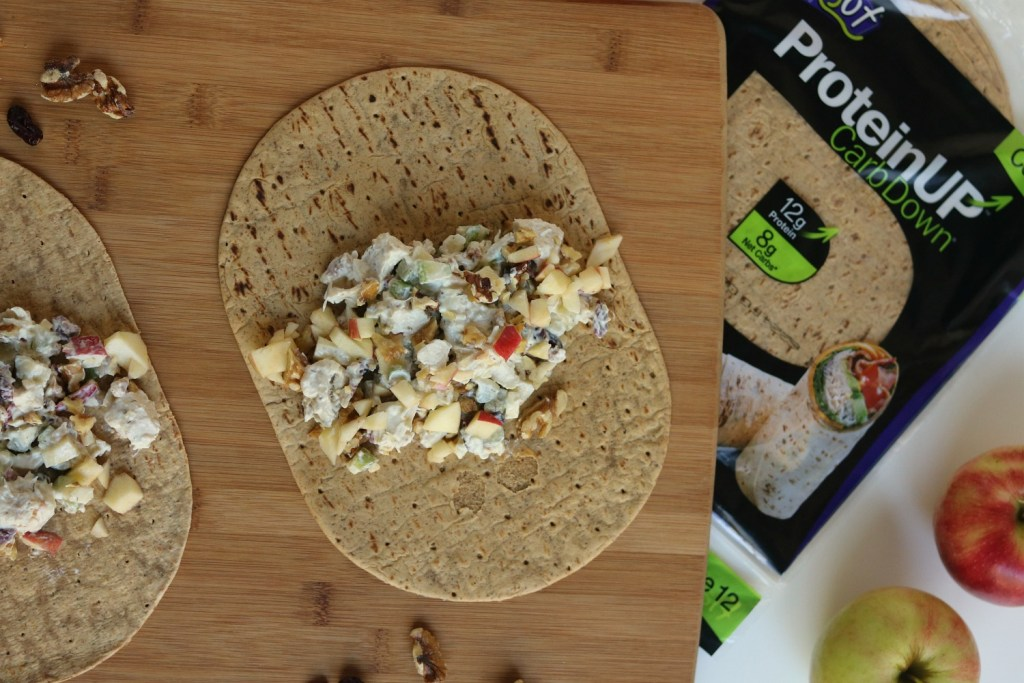 Michigan-Inspired Chicken Apple Cranberry Salad Wraps {made with Greek yogurt}