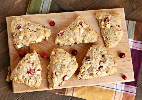 apple & cranberry scones