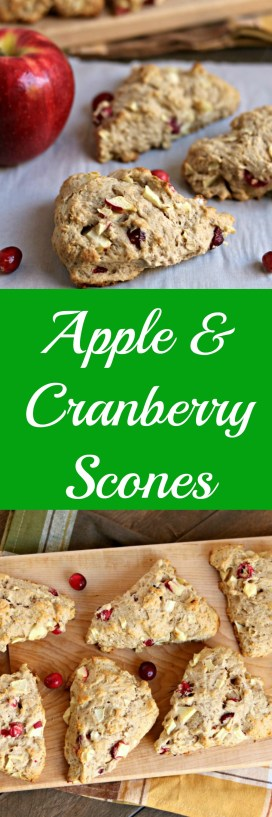 apple & cranberry scones