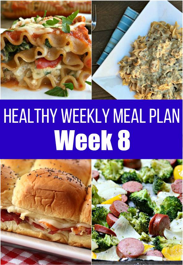 Healthy Weekly Meal Plan {Week Eight}