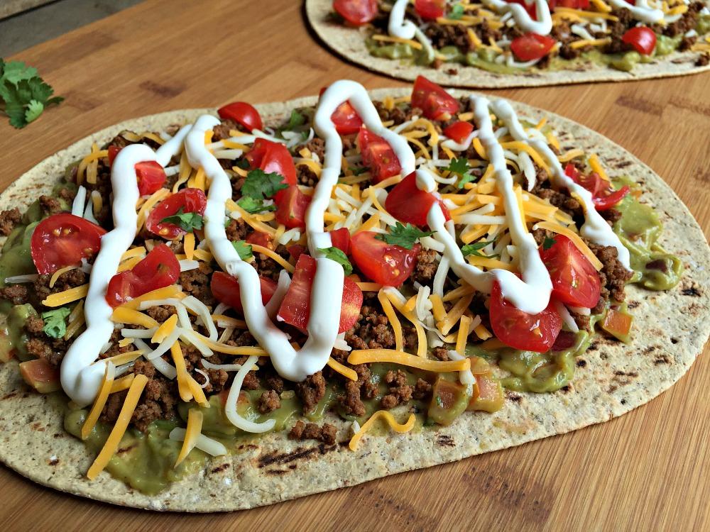 Mexican Taco Flatbread Pizza