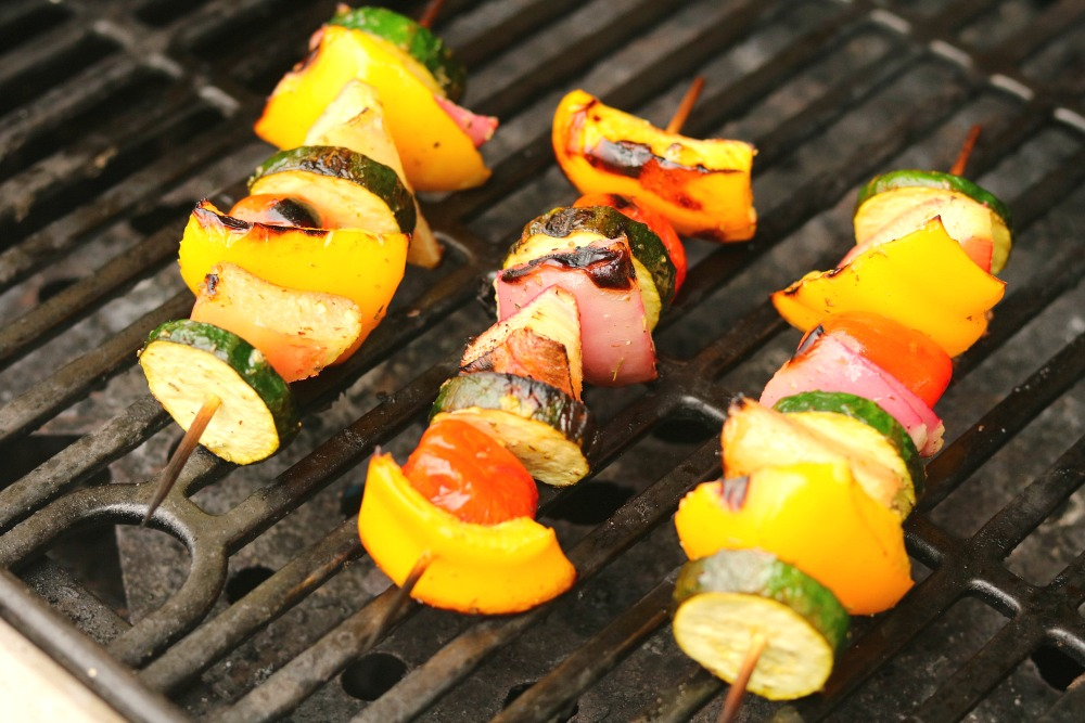 Grilled Spring Vegetable Kabobs