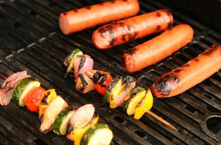 grilled summer vegetable kabobs