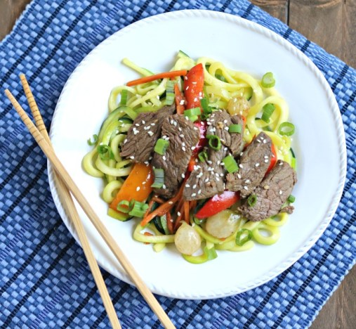 Asian Steak Stir Fry with Zoodles
